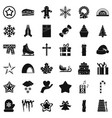 christmas celebration icons set simple style vector image vector image
