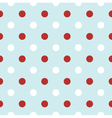 Christmas retro background with red Polka Dots