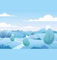 christmas snow landscape in winter snowy fields vector image vector image
