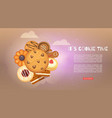 cookies with jam gingerbread chocolate chip vector image vector image