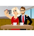couple taking selfie photo together vector image vector image