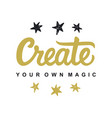 create your own magic vector image