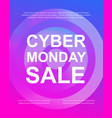 cyber monday sale promotional web banner vector image vector image