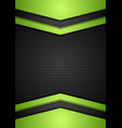 Dark perforated tech corporate background vector image vector image