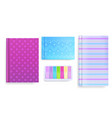 diary covers and message notes vector image