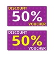 Discount voucher cards vector image vector image