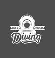 diving vintage labels and logos vector image