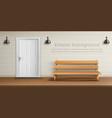 exterior background with veranda facade vector image vector image