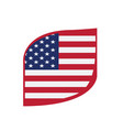 flag of united states vector image vector image