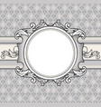 floral background vintage frame cover flourish vector image vector image