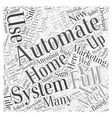 Full Automation Word Cloud Concept vector image vector image