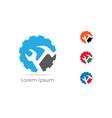 gear icon car repairing logo mechanic tools vector image vector image