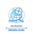 getting direction concept icon vector image vector image