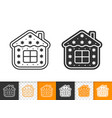 gingerbread cookie house black line icon vector image