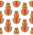 Gingerbread snowman seamless pattern vector image vector image