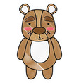 grated cute and surprised bear wild animal vector image vector image