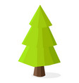 green christmas tree with heavy dark brown trunk vector image vector image