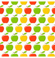 green red yellow apple seamless endless pattern vector image vector image