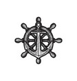 hand dawn anchor logo icon nautical maritime sea vector image