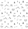 Hand drawn funny pattern background