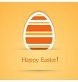 happy easter attach sticker vector image vector image