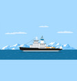icebergs and ship vector image vector image