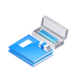 icon note and pencil case vector image vector image