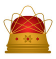 isolated royal crown vector image
