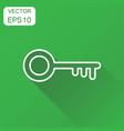 key icon business concept unlock symbol pictogram vector image vector image