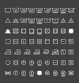 laundry symbols collection vector image vector image