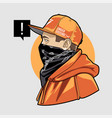 man in cap and bandana art vector image