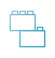 module brick lego piece of puzzle toy icon vector image vector image