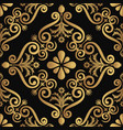 ornamental luxury pattern design golden color on vector image