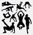 Pilates female sport silhouette vector image vector image