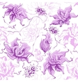 Purple flowers Seamless vector image vector image