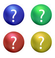 question mark with blue red green yellow ball on vector image