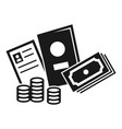 refugee people finance money icon simple style vector image
