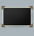 Retro photo frame with straight edges vector image vector image
