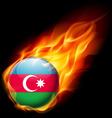 Round glossy icon of azerbaijan vector image vector image