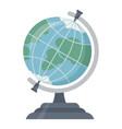 school globe flat circle ball vector image