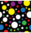seamless - colored circles vector image vector image