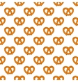 Seamless pattern with pretzels for Oktoberfest vector image