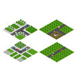 set of isometric modules vector image vector image