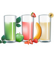 smoothies set collection apple strawberry vector image vector image