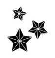 stars flying isolated icon vector image vector image