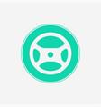 steering wheel icon sign symbol vector image vector image
