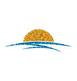 sun and sea logo vector image vector image