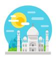 Taj Mahal flat design landmark vector image vector image