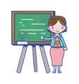 Teacher teaching class lesson in the backcoard vector image