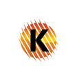 technology letter k vector image